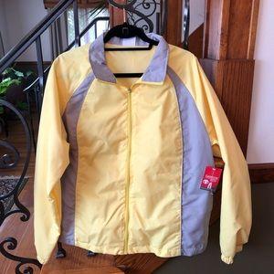 Danskin NWT Yellow & Gray Zip Windbreaker XL